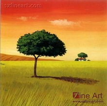 100%Handmade Hot and New Easy Landscape Painting with Abstract Style