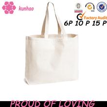 kunhao custom canvas blank tote bags