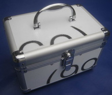 portable makeup train case Aluminum/ABS Material hot sell beauty case