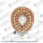 Rainbow Custom Large Diamond Shape Rhinestone Brooch Alibaba China Wholesale TS1103537