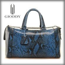 Hot Sale Fashion Designer Leather 2014 genuine python snake skin handbag