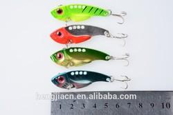 wholesale HENGJIA Fishing tackle for sale metal lures vib fish lure 5.5CM 11G 8# 4 colors vibration fishing lures (VIB017)