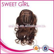 Fashionable smooth new natural curl human hair half wig
