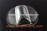 107mm 160*75 degree led glass lens for Bridgelux RS Array Series