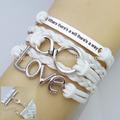 2014 moda manette Multi- strato amicizia braccialetto fb030 ingrosso
