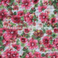 new design fabric with star print organza