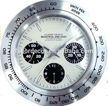 promotional aluminum wall clock rolex design decoration wall clock
