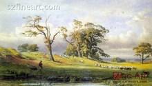 Oil Canvas painting Classic Landscape on Canvas