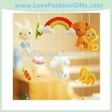Baby Crib Mobile - Baby Mobile - Nursery Decor Crib Mobile - Handmade Felt Wood Forest Animals - Kids Room Playroom Decor