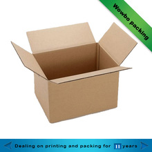 Brown paper vegetables and fruits packaging box