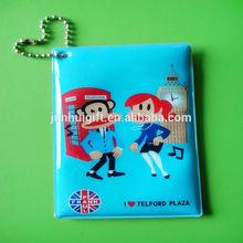 Hot sale custom pattern printed plastic pvc vinyl pocket business card holder
