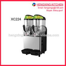 Frozen drinking machine and slush machine, Two tanks 12L cheap slush machine for sale, made in China