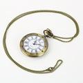 roman numberal relógio antigo bronze numerais romanos colar de corrente pingente de quartzo relógio de bolso