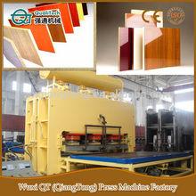 flush door laminate hot press machine/ laminate pressing line for wood panels