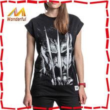 2014 fashion summer girls t shirt/printed pattern fashion summer girls t shirt
