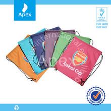 2014 Top selling promotional polyester drawstring bag