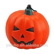 Eco-friend Polyurethane material stress toy orange pumpkin pu ball