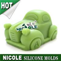 3d car silicone soap molds wholesale