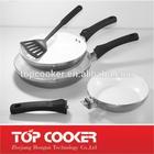 aluminium metallic painting fry pan with detachable handle