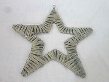 Small wicker gift item, gardon decoration , hanging star