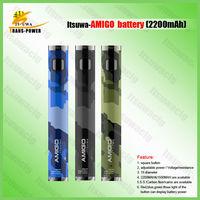 Itsuwa original design 1981 TS clearomizer battery 2200mAh AMIGO