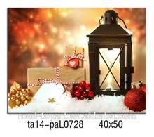 Canvas Arts Christmas Lantern With Led Light