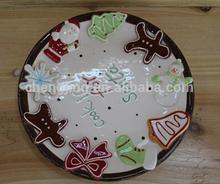 Ceramic Christmas Pie Plate