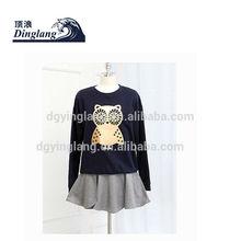 2014 latest custom design wholesale womens girls cute owl hoodies flece cotton xxl pullover china clothing