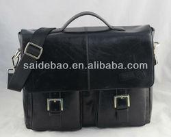 custom genuine leather laptop bag, briefcase for business laptop bag,fashion cattlehide laptop bag