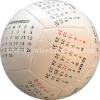 4 inch stuffed PU Soccer Calendar ball/educational ball