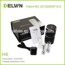 Tops vente! Rechargeable électronique narguilé H6 la plus populaire kelvin e narguilé cigarette H6 indienne narguilé
