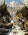 عالية الوضوح المناظر الطبيعية قماش اللوحة الجبال والأنهار