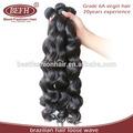 de larga duración de enredos y libre arrojar el color natural del cabello virgen brasileño 3 paquetes
