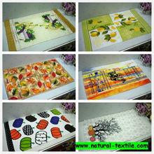 Cheap wholesale 100% cotton custom printed tea towel