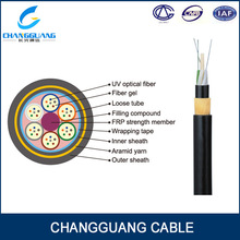 24 core single mode fiber Telecom Cable Fiber Optic ADSS fiber optic cable equipment