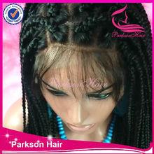 Fashionable braided wigs top quality african braided wig ,wholesale box braid wig