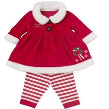 HFR-R-261 Children clothing girls long sleeve dress; Christmas clothing