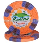 9.5g 3-Color Pure Clay Sticker Poker Chip