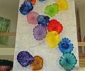 china de vidrio soplado flor decoración de la pared de la cinta