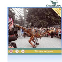 colorful outdoor playground,animatronic dinosaur costume
