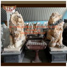 quyang jinkun carving stone lion sculpture