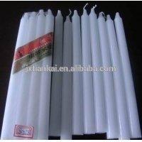 China regional high quality white thin pillar candle