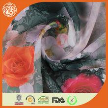 Moda 75D impresión de la rosa de la gasa de la tela
