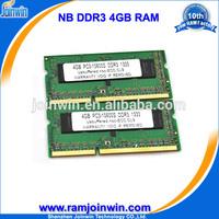 Cheap computer parts 256mb*8 ram memory ddr3 4gb laptop
