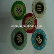 Customize Acrylic material Acrylic Casino Pocker Chips