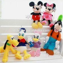 Plush Toys Mickey Minnie Mouse Donald Duck Winnie Bear Series Stuffed Animal Toys