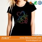 Hotsale Elegent dance style rhinestone hotfix motif design sticker for shoes dress T-shirt