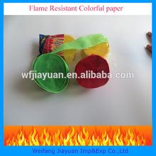 Flame retardant paper streamer,Flame retardant party throws paper streamer