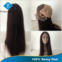 Cheap Natural Real Straight 100% Human Remy Hair Glueless Full Lace Wig