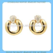 Gold stud earrings turkish gold earring for women